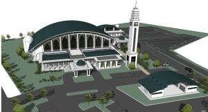 Gambar Perspektif Masjid Perodua Serendah